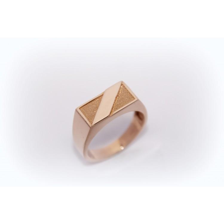 Vyriškas auksinis žiedas