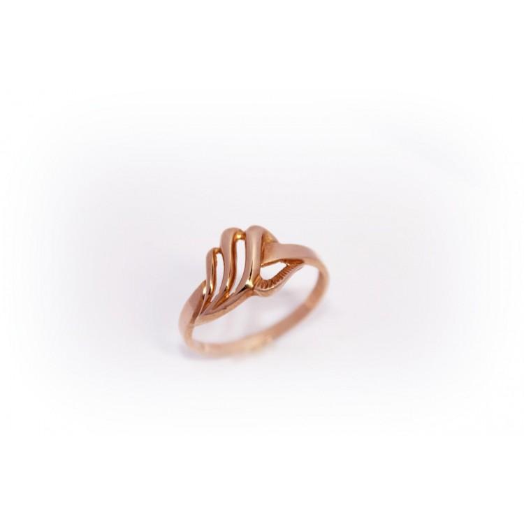 """Auksinis žiedos """"Bangelė"""""""