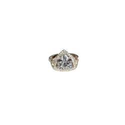 Sidabrinis žiedas us auksu
