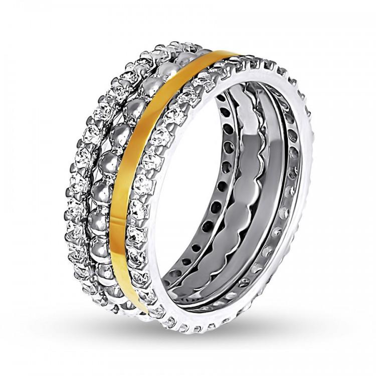 Sidabrinis žiedas iš penkių žiedelių